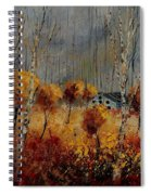 Windy Autumn Landscape  Spiral Notebook