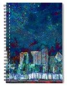 Windy Chicago Illinois Skyline Party Nights 20180516 Spiral Notebook