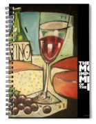 Wine And Cheese Imported Meal Spiral Notebook