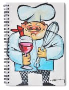 Wine And Wisk Chef Spiral Notebook