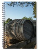 Wine Barrels At Vineyard Spiral Notebook