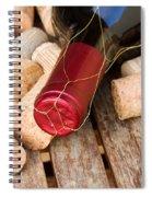 Wine Bottle And Corks Spiral Notebook