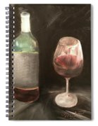 Wine Bottle And Glass Spiral Notebook