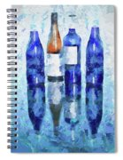 Wine Bottles Reflection  Spiral Notebook