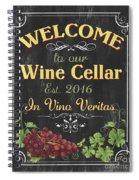 Wine Cellar Sign 1 Spiral Notebook