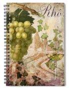 Wine Country Rhone Spiral Notebook