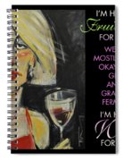 Wine For Lunch Poster Spiral Notebook