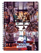 Wine Glasses, Empty Spiral Notebook