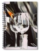 Wine Glasses Spiral Notebook