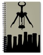 Wine Graphic Silhouette Spiral Notebook