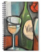 Wine Is Bottled Poetry Spiral Notebook