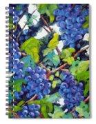 Wine On The Vine Spiral Notebook