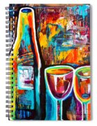 Wine Lovers Abstract Spiral Notebook