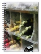 Wine Rack Mixed Media 01 Spiral Notebook