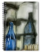 Wine Rack Shadows Spiral Notebook