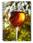 Wine Reflections Square Spiral Notebook