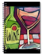 Wine Squared Spiral Notebook