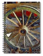 Wine Wagon Wheel Spiral Notebook