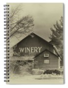 Winery In Sepia Spiral Notebook