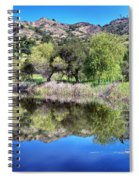Winery Pond Reflections Spiral Notebook
