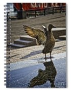 Winged Bird Spiral Notebook