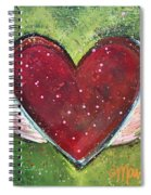 Winged Heart Number 1 Spiral Notebook
