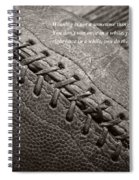 Winning Quote From Vince Lombardi Spiral Notebook