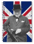 Winston Churchill And Flag Spiral Notebook