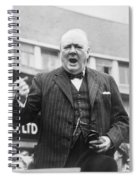 Winston Churchill Campaigning - 1945 Spiral Notebook