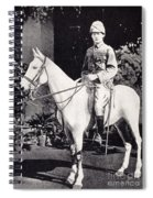 Winston Churchill On Horseback In Bangalore, India In 1897 Spiral Notebook