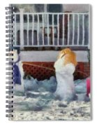 Winter - Christmas - Brother And Sister  Spiral Notebook