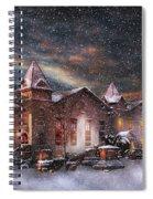 Winter - Clinton Nj - Silent Night  Spiral Notebook