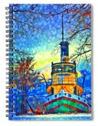 Winter And The Tug Boat 2 Spiral Notebook