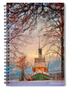 Winter And The Tug Boat Spiral Notebook