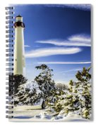 Winter At Cape May Light Spiral Notebook