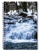 Winter At Mill Creek Falls No. 1 Spiral Notebook
