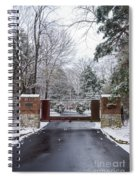 Winter At The Gate Spiral Notebook