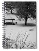 Winter At The Park Spiral Notebook