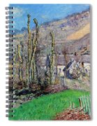 Winter At The Val De Falaise Spiral Notebook