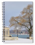 Winter At The Waterworks Spiral Notebook