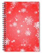 Winter Background With Snowflakes. Spiral Notebook