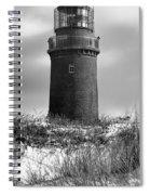 Winter Baltic Sea Lighthouse Spiral Notebook