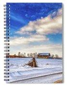 Winter Barn 3 - Paint Spiral Notebook