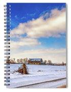 Winter Barn 3 Spiral Notebook