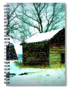 Winter Barn And Silo Spiral Notebook