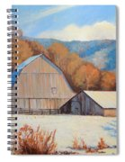 Winter Barns Spiral Notebook