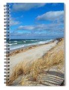 Winter Beach View Spiral Notebook
