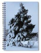 Winter Bench Spiral Notebook