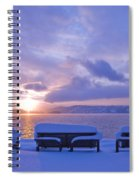 Winter Benches Spiral Notebook