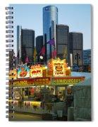 Winter Blast In Detroit Spiral Notebook